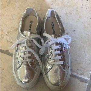 Silver Superga Sneakers